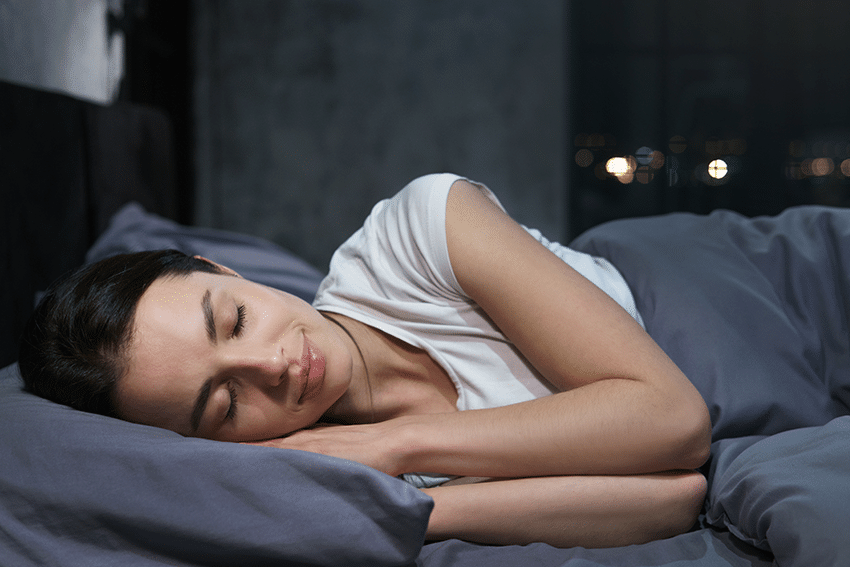 Treatment of sleep apnea leads to less snoring and better sleep patterns.