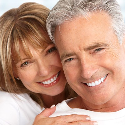 Smiling middle aged couple